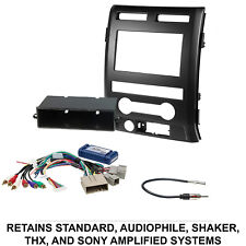 Car Radio Stereo CD Player Dash Install Mounting Trim Bezel Panel Kit + Harness