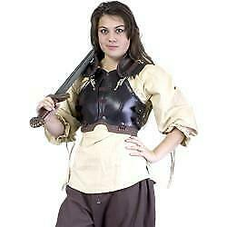 MEDIEVAL FANTASY AMAZON Rogue Women Female Leather Chest Back BODY ARMOR LARP