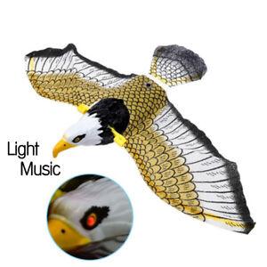 Luminous Bird Repellent Hanging Eagle with Music Flying Bird Scarer