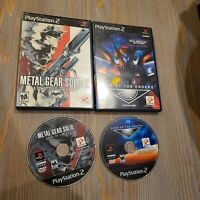 Lot of 2 Hideo Kojima Konami PS2 Games Metal Gear Solid Sons Liberty Zone Enders