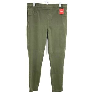 Spanx 1X Jean-ish Ankle Length Leggings Dark Olive New A368975 Plus Size Stretch