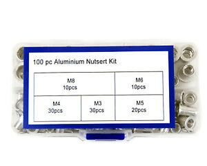100pcs aluminium alloy flat head rivet nut kit -  M3 M4 M5 M6 M8 JG1605