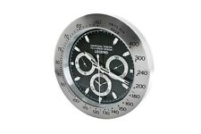 Pusher Crono Clock Orologio da parete Nero