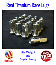 Real Titanium Racing Lug Nuts M12 x 1.5 Super Lite Weight 44mm Long set of 16pcs