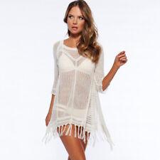 783ac27fc Mujer Encajes Ganchillo Bikini Vestido Pareo Caftán Blusas Playa Bañador  Borla
