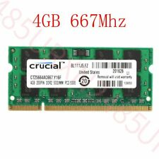4GB 2GB DDR2 PC2-5300S 667MHz SODIMM 200Pin Laptop Notebook RAM For Crucial Lot