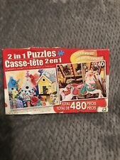 2 in 1 Puzzles Friendly Neighbors III and Colorful Wooden Carousel