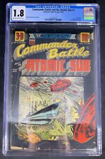 Commander Battle and the Atomic Sub #1 CGC 1.8  7-8/54 3703485013 - 3D effect