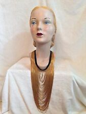 New RANJANA KHAN Signed Gold Tone CHAIN Necklace NEIMAN MARCUS