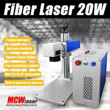 MCWlaser 20W Fiber Laser Marking Machine Engraving Metal & Rotary FDA CE