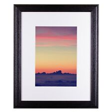 Craig Frames 5x7 Black Picture Frame, White Mat with Opening for 4x6 Inch Image