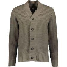ADIDAS SLVR Mens Grey Chunky Button Up Lambswool Cardigan - size Medium