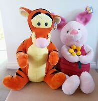 Set Of 2 X Disney Winnie The Pooh – Tigger & Piglet Huge Plush Soft Toys NWT