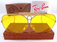 VINTAGE B&L RAY BAN SHOOTER DECOT KALICHROME AVIATOR YELLOW SHOOTING CASE
