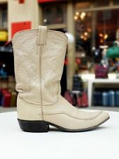 TONY LAMA Damen Stiefel Chic Boots UK 5,5 Cream beige Cowboystiefel True Vintage