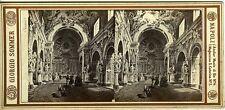 GIORGIO SOMMER vue stéréo NAPOLI n°246 italie scène de genre circa 1880