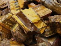 3000 Carats of Tiger Eye Rough + a very nice FREE faceted Gemstone