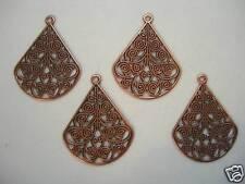 Copper Victorian Filigree Drops Earring Findings 4