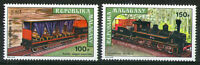 MADAGASCAR 1973 RAILWAY PAIR OF COMMEMORATIVE STAMPS SG 252/3 MNH