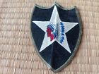 WWII US Army 2nd Infantry Division OD Green Border Patch