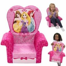 Princess Foam High Chair Sofa Kids Furniture For Girls Bedroom Playroom Couch US