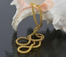 Damen Herren Halskette Kugelkette 46 cm x 3 mm 750 Gold /18K vergoldet 1559