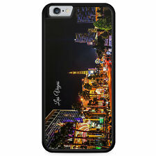 IPhone 6 6s GUSCIO IN SILICONE CASE Panorama Las Vegas Skyline Silhouette USA COVER