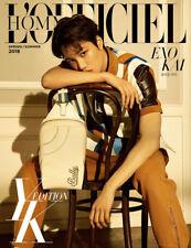 L'OFFICIEL HOMMES YK EDITION TYPE A KOREA MAGAZINE EXO KAI CLIPPINGS PAGE