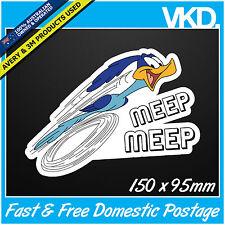 Road Runner Sticker/ Decal - Meep Beep Bomb Drift JDM ILLEST FATLACE 4x4 Sparkle