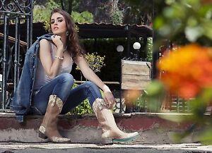 Lane's Women's Tan Leather Western Jeni Lace Wedding Boots LB0168C