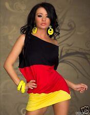 3354 drapeaux Robe Mini Allemagne EM WM Football Taille SM 34 36 Multicolore
