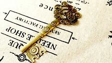 Steampunk keys 2 antique bronze vintage style jewellery supplies C144