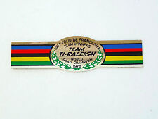 Ti Raleigh decal team World champion 1977-78 Foil sticker seat tube Nos
