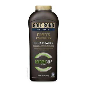 Gold Bond Men's Essentials Body Powder (10 Oz, Refresh 360 Scent)