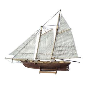 Scale 1/120 DIY Building Kits Boat Wooden Sailboat Sailing Ship Puzzles