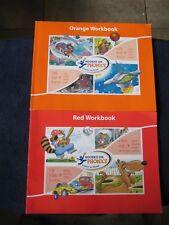 HOOKED ON PHONICS Learn to Read ~ Red, Orange Workbooks