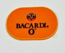 Bacardi Rum USA O Kunststoff Aufnäher Patch Aufkleber Orange