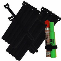 """30pc 8""""/20cm Nylon Cable Ties Wire Strap Zip Wrap Fastening Self Gripping BLACK"""