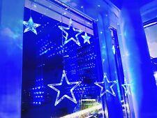 Lichterkette LED Star Stern Fenster Hängeleuchte Weihnachten Party blau