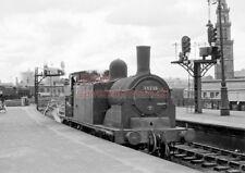 PHOTO  LNER LOCO 55225 GLASGOW ST ENOCH RAILWAY STATION  (4) 24-07-61 CR678