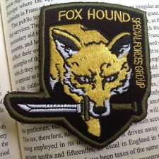 New Usa Metal Gear Solid Fox hound Tactical Army Morale Hook &Loop Patch