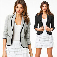 New LADIES SMART FITTED BLAZER WOMENS SUIT JACKET CASUAL OFFICE TOP Tops UK
