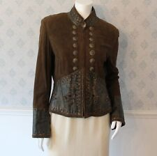 Women's Double D Ranch Brown Leather & Suede Western Style Jacket Small