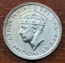 1942 C MS UNC BU Newfoundland Canada 5 Five Cents Silver Half Dime Coin Lot D81