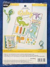 Cross Stitch Kit Dino Baby Birth Record Sampler Announcement Dinosaurs