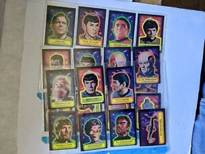 Star Trek Topps 1976 complete Set Of 22 Stickers BEAUTIFUL NM/M CONDITION