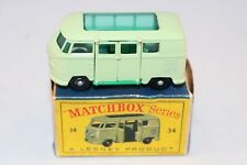 Matchbox Lesney 34 Volkswagen Camper Car BPW in  very near mint condition