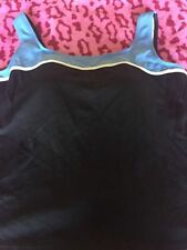 LANDS END  22 W  PLUS  BLACK PADDED  TANKINI  SWIMSUIT TOP NEW$79.