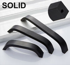 Solid Modern Square Kitchen Cabinet Handle Door Knob Drawer Pull Stainless Steel