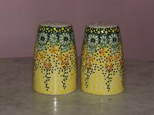 Polish Pottery Tall Salt & Pepper Set! UNIKAT Signature Exclusive Miss Daisy!